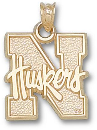 """Nebraska Cornhuskers """"N Huskers"""" Lapel Pin - 10KT Gold Jewelry"""