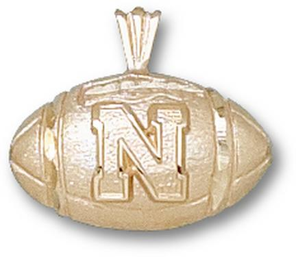 "Nebraska Cornhuskers ""N Football"" Lapel Pin - 10KT Gold Jewelry"