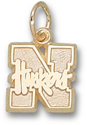 """""""Nebraska Cornhuskers """"""""N Huskers"""""""" 3/8"""""""" Lapel Pin - Sterling Silver Jewelry"""""""