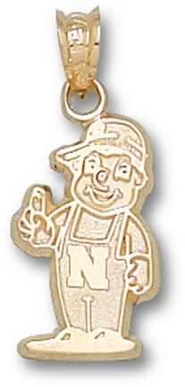 "Nebraska Cornhuskers ""Little Red Mascot"" 5/8"" Lapel Pin - Sterling Silver Jewelry"