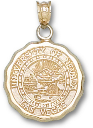 Las Vegas (UNLV) Runnin Rebels Seal Pendant – 10KT Gold Jewelry