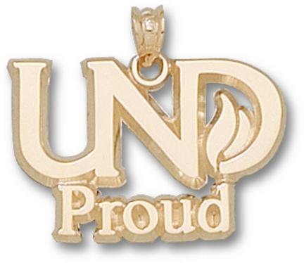 """North Dakota  Sioux """"UND Proud"""" Lapel Pin - 10KT Gold Jewelry"""