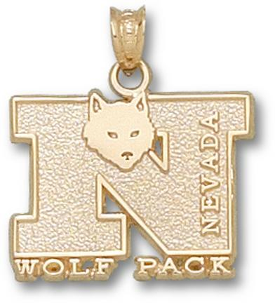 Nevada Wolf Pack N Wolf Pack with Wolf Pendant - 14KT Gold Jewelry