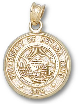 Nevada Wolf Pack Seal Pendant - 14KT Gold Jewelry