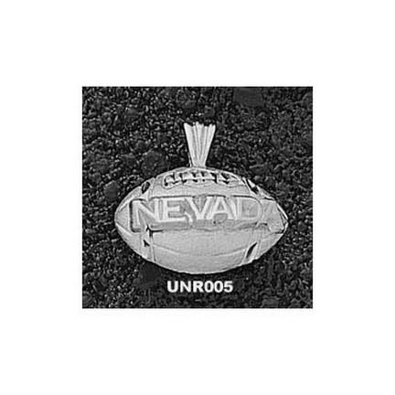 Nevada Wolf Pack Nevada Football Pendant - Sterling Silver Jewelry