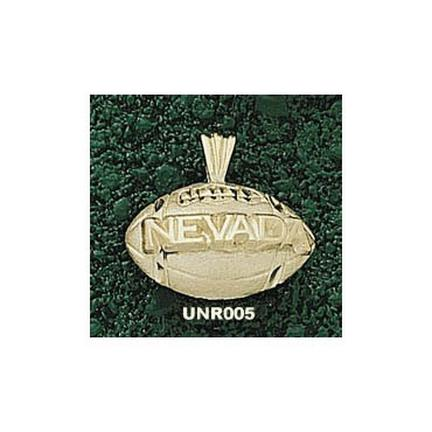 Nevada Wolf Pack Nevada Football Pendant - 14KT Gold Jewelry