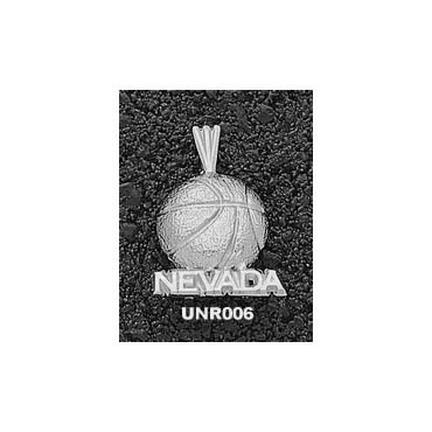 Nevada Wolf Pack Nevada Basketball Pendant - Sterling Silver Jewelry