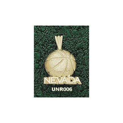 Nevada Wolf Pack Nevada Basketball Pendant - 14KT Gold Jewelry