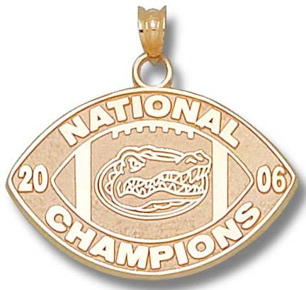 Florida Gators 2006 Bowl Championship Series 34 Logo Pendant  14KT Gold Jewelry