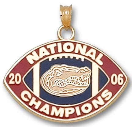 "Florida Gators 2006 Bowl Championship Series 5/8"" Enamel Logo Lapel Pin - 10KT Gold Jewelry"