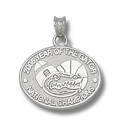 Florida Gators 5/8 2006 Year Of The Gator Pendant Sterling Silver Jewelry