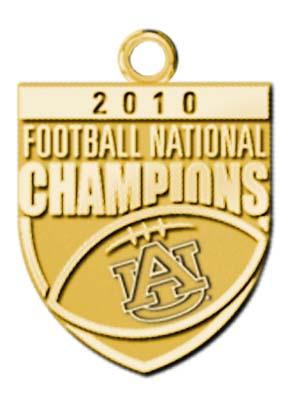 Auburn Tigers 2010 Bowl Championship Series Charm - 10KT Gold Jewelry LGA-UNV018A-10K