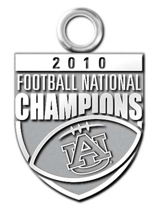 "Auburn Tigers 2010 Bowl Championship Series 5/8"""" Charm - Sterling Silver Jewelry"" LGA-UNV018A-SS"