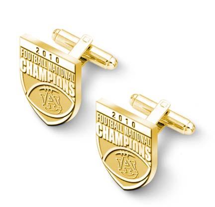 Auburn Tigers 2010 Bowl Championship Series 10KT Gold Cuff Links - 1 Pair LGA-UNV018ACL-10K