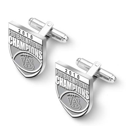 Auburn Tigers 2010 Bowl Championship Series Sterling Silver Cuff Links - 1 Pair LGA-UNV018ACL-SS