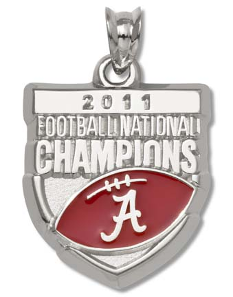Alabama Crimson Tide 2011 BCS National Champions Enamel Pendant - Sterling Silver Jewelry LGA-UNV022EA-SS