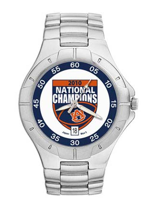 Auburn Tigers 2010 Bowl Championship Series NCAA Men's Pro II Watch with Stainless Steel Bracelet LGA-UNV917A