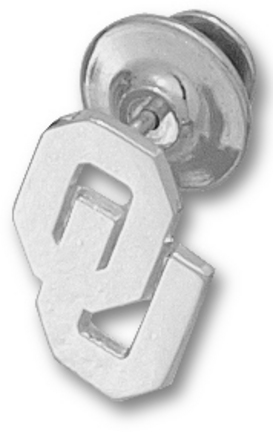 "Oklahoma Sooners New ""OU"" 5/8"" Lapel Pin - Sterling Silver Jewelry"