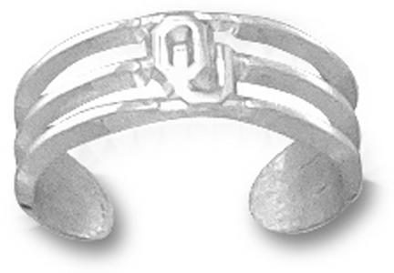 Oklahoma Sooners Ou Toe Ring Sterling Silver Jewelry