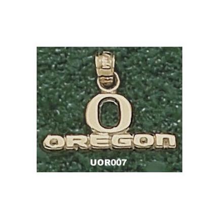"Oregon Ducks 5/16"""" """"O Oregon"""" Pendant - Gold Plated Jewelry"" LGA-UOR007-GP"