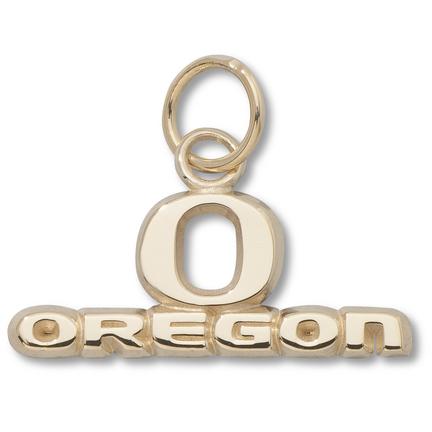 "Oregon Ducks """"O Oregon"""" 5/16"""" Charm - 10KT Gold Jewelry"" LGA-UOR007-10K"