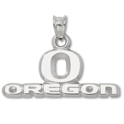 "Oregon Ducks 7/16"""" """"O Oregon"""" Pendant - Sterling Silver Jewelry"" LGA-UOR008-SS"