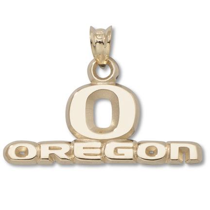 "Oregon Ducks """"O Oregon"""" 7/16"""" Pendant - 10KT Gold Jewelry"" LGA-UOR008-10K"