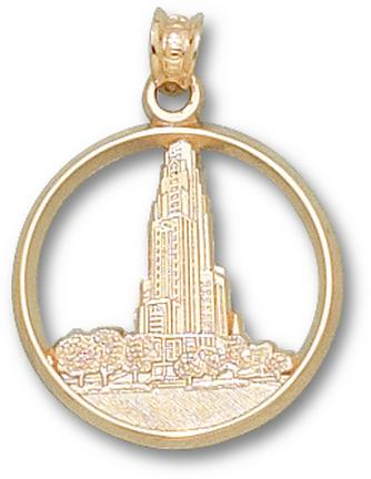 """Pittsburgh Panthers """"Cathedral"""" Lapel Pin - 10KT Gold Jewelry"""