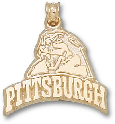 """Pittsburgh Panthers """"Head Pittsburgh"""" Lapel Pin - 10KT Gold Jewelry"""