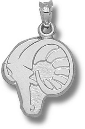 Rhode Island Anchormen Rams Head 5/8 Pendant - Sterling Silver Jewelry
