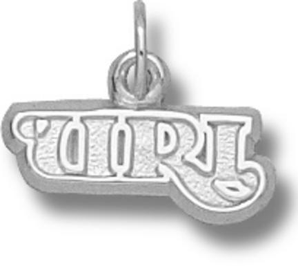 Rhode Island Anchormen URI 3/16 Charm - Sterling Silver Jewelry
