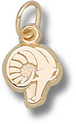 Rhode Island Anchormen Rams Head 3/8 Charm - 14KT Gold Jewelry