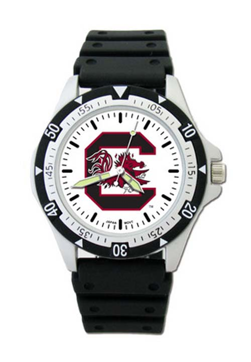 South Carolina Gamecocks NCAA Black 'C' Logo Men's Option Watch