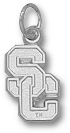 "USC Trojans """"SC"""" 1/2"""" Charm - Sterling Silver Jewelry"" LGA-USC005-S"