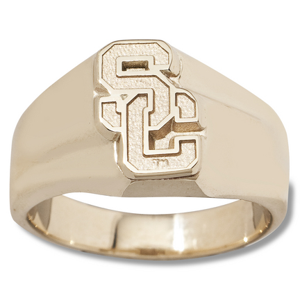 "USC Trojans Athletic """"SC"""" Men's Ring Size 10 1/2 - 10KT Gold Jewelry"" LGA-USC005GR-10K"