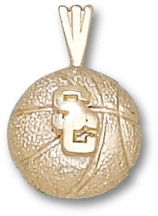 USC Trojans SC Basketball 1/4 Pendant - 14KT Gold Jewelry