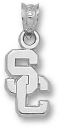 Usc Trojans Sc 7/16 Pendant Sterling Silver Jewelry