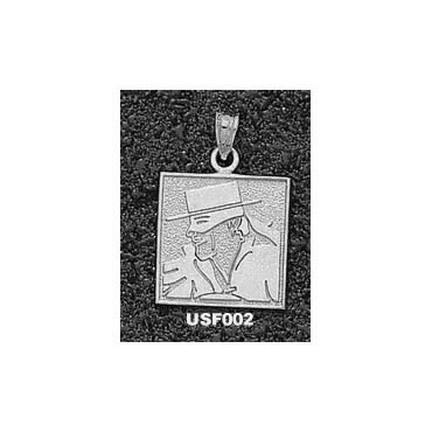 San Francisco Dons Square Don Face Pendant - Sterling Silver Jewelry