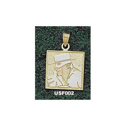 San Francisco Dons Square Don Face Pendant - 14KT Gold Jewelry