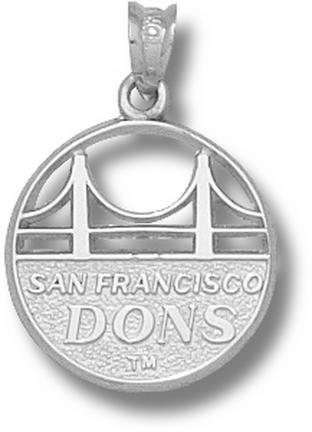 San Francisco Dons Golden Gate Bridge with Dons Pendant - Sterling Silver Je..