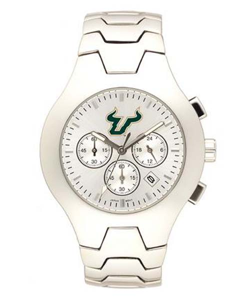 South Florida Bulls NCAA Men's Hall of Fame Watch with Stainless Steel Bracelet