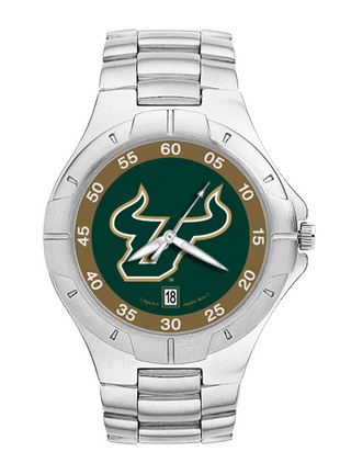 South Florida Bulls NCAA Mens Pro II Watch with Stainless Steel Bracelet