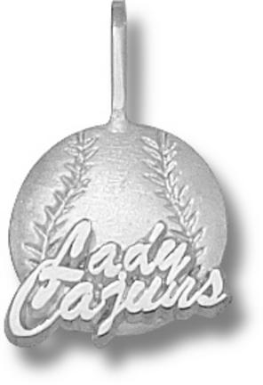 Louisiana (Lafayette) Ragin' Cajuns Lady Cajuns Softball Pendant - Sterling ..