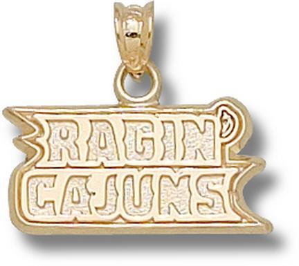 "Louisiana (Lafayette) Ragin Cajuns ""Ragin Cajuns"" Lapel Pin - Sterling Silver Jewelry"