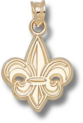 """Louisiana (Lafayette) Ragin Cajuns """"Fleur De Lis"""" 5/8"""" Lapel Pin - Sterling Silver Jewelry"""
