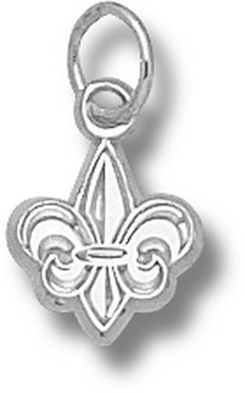 Louisiana (Lafayette) Ragin' Cajuns Fleur De Lis 3/8 Charm - Sterling Silver..