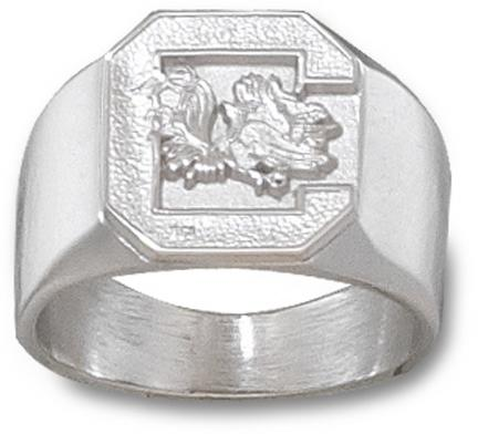 South Carolina Gamecocks Gamecock Mens Ring Size 10 12  Sterling Silver Jewelry
