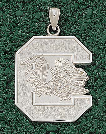 South Carolina Gamecocks Giant C Gamecock Lapel Pin  Sterling Silver Jewelry
