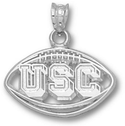 South Carolina Gamecocks Pierced USC Football Pendant  Sterling Silver Jewelry