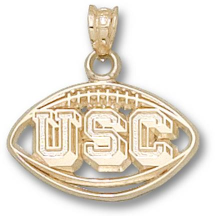 South Carolina Gamecocks Pierced USC Football Pendant  14KT Gold Jewelry